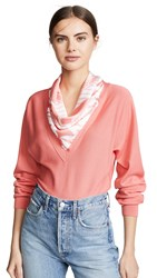 Cedric Charlier Scarf Neck Sweater Pink