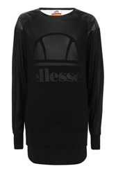 Ellesse Black Mesh Layer Top By Black