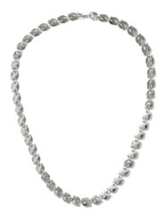 Topman Silver Look Circle Disk Necklace