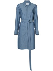 Strateas Carlucci Hybrid Striped Shirt Dress Blue