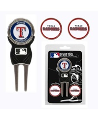 Team Golf Texas Rangers Divot Tool And Markers Set Team Color