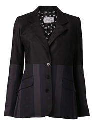 Lucien Pellat Finet Invisible Skull Striped Blazer Black