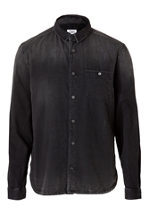 Closed Cotton Denim Mitchell Shirt In Destroyed And Repair