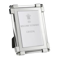 William Yeoward Classic Clear Glass Photo Frame 4X6 Silver