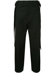 Wooyoungmi Belted Wide Leg Trousers Black