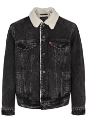 Levi's The Sherpa Black Denim Jacket