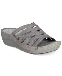 Bare Traps Baverly Wedge Sandals Women's Shoes Black Grey