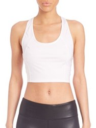 Alo Yoga Fitted Crop Tank White