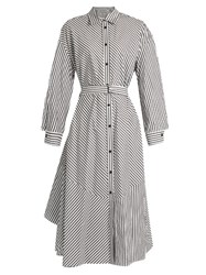 Rachel Comey Striped Cotton Shirtdress Black White