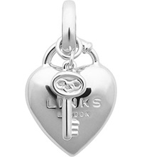 Links Of London Heart Padlock Sterling Silver Charm