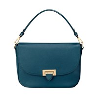 Aspinal Of London Letterbox Slouchy Saddle Bag Peacock Blue