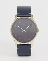 Jigsaw Leather Watch In Black