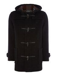 Gloverall Mid Length Duffle Jacket Black