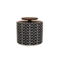 Orla Kiely Linear Stem Storage Jar 1L Dark Grey