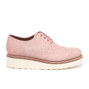 Grenson Women's Emily Stingray Leather Brogues Pink