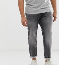 Jack And Jones Plus Size Slim Fit Jean In Grey Blue