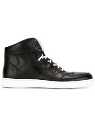 Diesel Black Gold Panelled Hi Tops