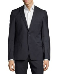 Versace Pinstriped Two Piece Suit Gray Blue