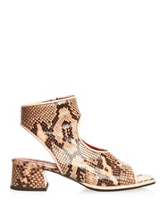 Marni Cut Out Python Ankle Boots