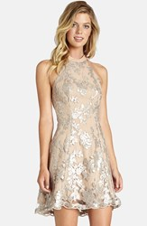 Dress The Population Women's Abbie Minidress Silver Nude