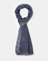 French Connection Stripe Scarf Blue