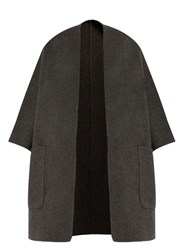 Vince Reversible Wool And Cashmere Blend Coat Grey