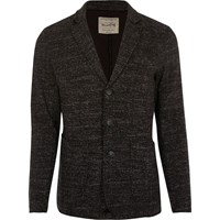 River Island Mens Dark Grey Jack And Jones Flecked Jersey Blazer