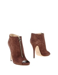 Elisabetta Franchi Ankle Boots Cocoa