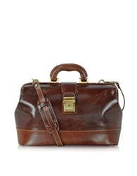Chiarugi Handmade Leather Professional Doctor Bag Brown