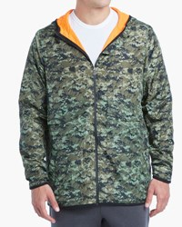 2Xist Camouflage Military Sport Travel Jacket Green Pattern
