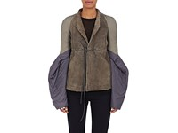 Rick Owens Women's Fur Bell Sleeve Jacket Grey Purple