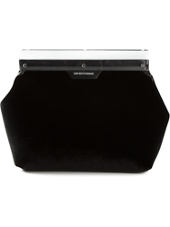 Emporio Armani Structured Clutch Black