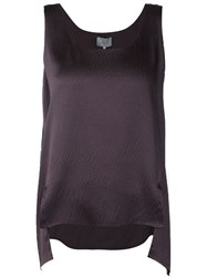 Maiyet High Low Hem Tank Pink And Purple