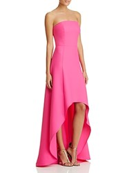 Laundry By Shelli Segal Strapless High Low Gown Hot Magenta