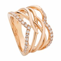 Sarah Ho Sho Vita Vitae Spiral Ring Part Pave Rose Gold