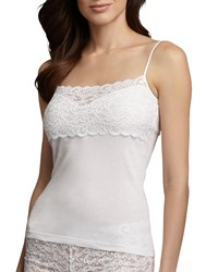 Hanro Luxury Moments Wide Lace Camisole White