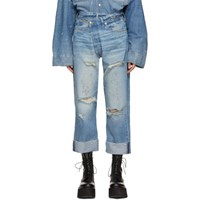 R 13 R13 Blue Crossover Jeans