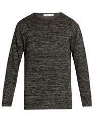 Inis Meain Crew Neck Linen Sweater Grey Multi
