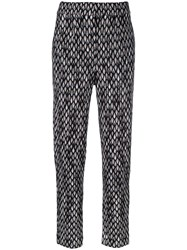 Missoni Patterned Knitted Trousers Black
