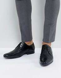 New Look Leather Brogue Shoes In Black