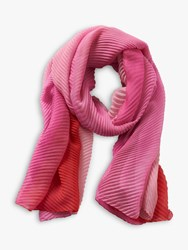 Betty Barclay Pleated Chiffon Scarf Red Pink