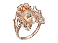 Vivienne Westwood Gillian Ring Peach Pearl Gold Ring Bone
