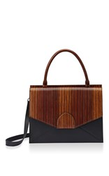 Bertoni1949 Dafne Top Handle Bag Brown