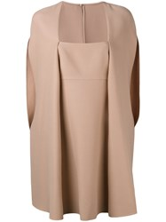 Valentino Cape Overlay Detail Dress Pink Purple