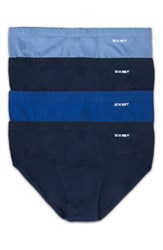 2Xist Men's 2 X Ist 4 Pack Bikini Briefs Navy Cobalt Porcelain