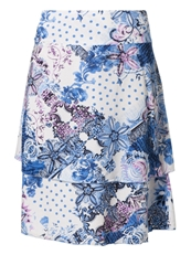 Betty Barclay Aline Skirt White Blue