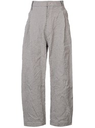 Sankuanz Belted Checked Trousers White