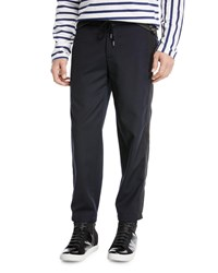 Public School Ras Drawstring Waist Knit Pants Black