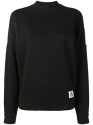 Calvin Klein Underwear Logo Patch Sweatshirt Black