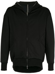 Attachment Zip Front Hoodie Black